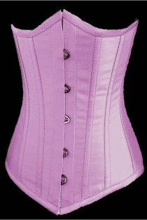 Essential Sweet Pink Satin Underbust Corset With Simmering Effect for Every Occasion, Front Busk