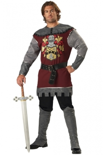Appealing Knight Inspired Look Silver Greyish Longsleeve Dark Red Above Knee Top With Knight Print
