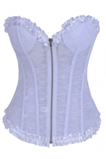 Pleasantly Appealing Immaculate White Lace Overlaid White Thick Tight Fit Spotless Ruffled Edges Shoelace Inspired Back