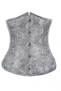 Fashionable Grey Underbust Corset