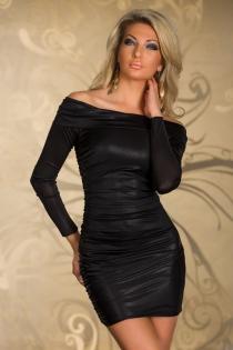 Elegant Black Off Shoulder Club Dress