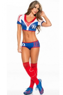 FIFA World Cup Russia 2018 --Inspiring Team France Number 10 Costume with Matching Jersey, Boy Short & Socks