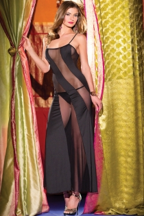 Gorgeous and sexy dress with see-through panels and thin straps