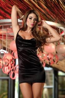 Elagant Black Low Back Mini Club Dress with Back Zipper and Halter Neckline