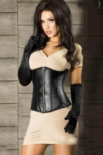 Daring and Delightful Under Bust Corset with Zipper Front