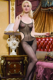 Sexy Bodystocking with Shoulder Straps and Side Cutouts