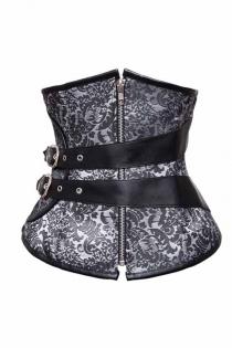 Fetish and Sexy Black Leatherette Boned Corset