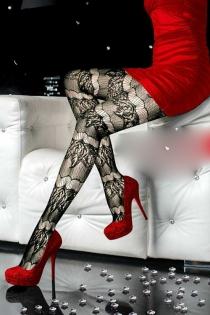 Dazzlingly Sexy  Black Lace Pantyhose