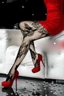 Sensuosly Sheer and Hot Floral Pantyhose