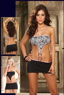 Strapless Bra Top with Thong Panty