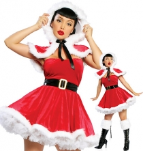 Sexy Christmas Dress With Head Decoration and Black Belt