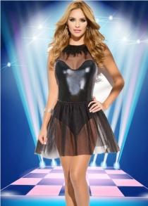 Sexy Women Mesh One-piece Clubwear Dress