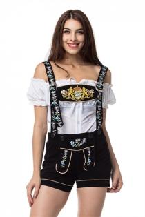 Oktoberfest Beer Festival Cosplay German Beer Maid Outfits Women Halloween Costume
