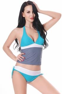 Women Plus Size Swimwear Campus Style Split Swimsuit