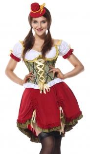 Women Oktoberfest Maid Costume Halloween Beer Girl Costumes