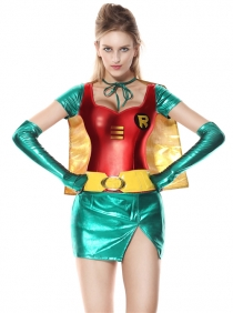 Sexy Super Hero Anime Cosplay Carnival Party Supergirl Fancy Dress