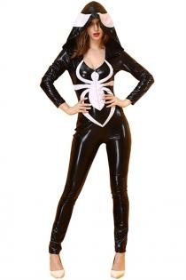 Sexy Halloween Spider Jumpsuit Costume