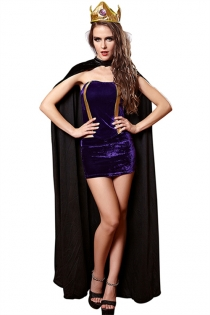 Gorgeous Queen Cosplay Costume Set, Robe and Headwear Included