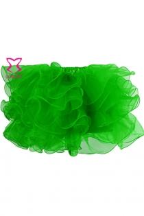 Gothic Layers Ruffles Green Organza Net Sexy Adult Tutu Skirt