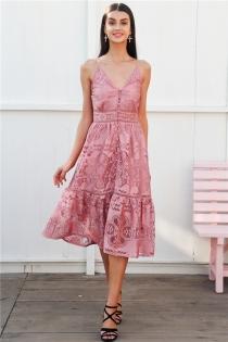 Strap backless long summer dress women V neck button sexy lace dress female Streetwear casual white dress vestidos 2018