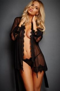 Ladies sexy black bathrobes erotic lingerie open straps cute fur temptation sexy long skirt