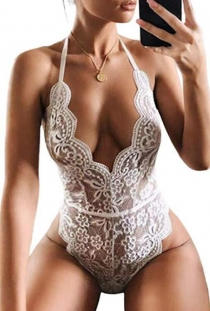 Amazon explosion sexy white lace teddy sexy lingerie
