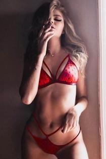 Red lace transparent female bikini temptation three-point sexy lingerie set