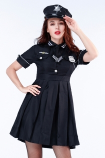 Sexy policewoman fancy dress outfits with hat and dress