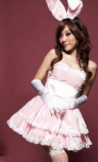 Pink Bunny Christmas Lingerie Dress