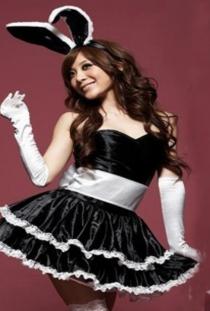 Black Bunny Christmas Lingerie Dress