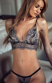 slutty silver lace bra with panties set