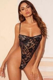 Alluring black teddies underwear Valentines' Gift