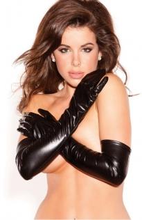 Sexy black PVC Gloves